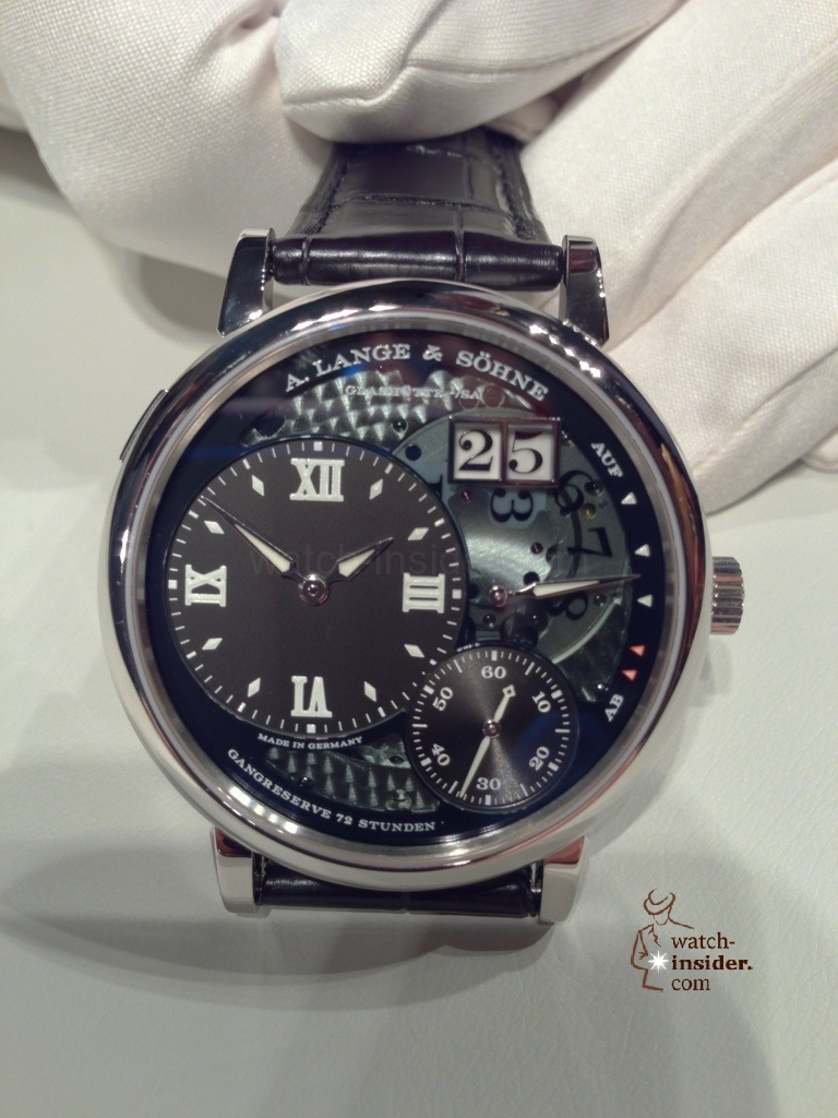A very first view at the brand new A. Lange & Söhne Grosse Lange 1 Lumen