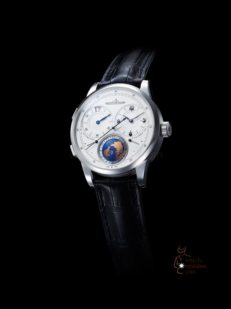 "Jaeger-LeCoultre ""Duomètre Unique Travel Time"": The picture shows the Paris boutique Place Vendome limited version of that new watch. An unlimited red gold version will be launched at SIHH in January 2013."