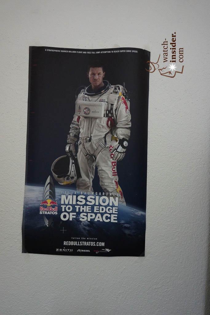... a poster of Felix Baumgartner ...