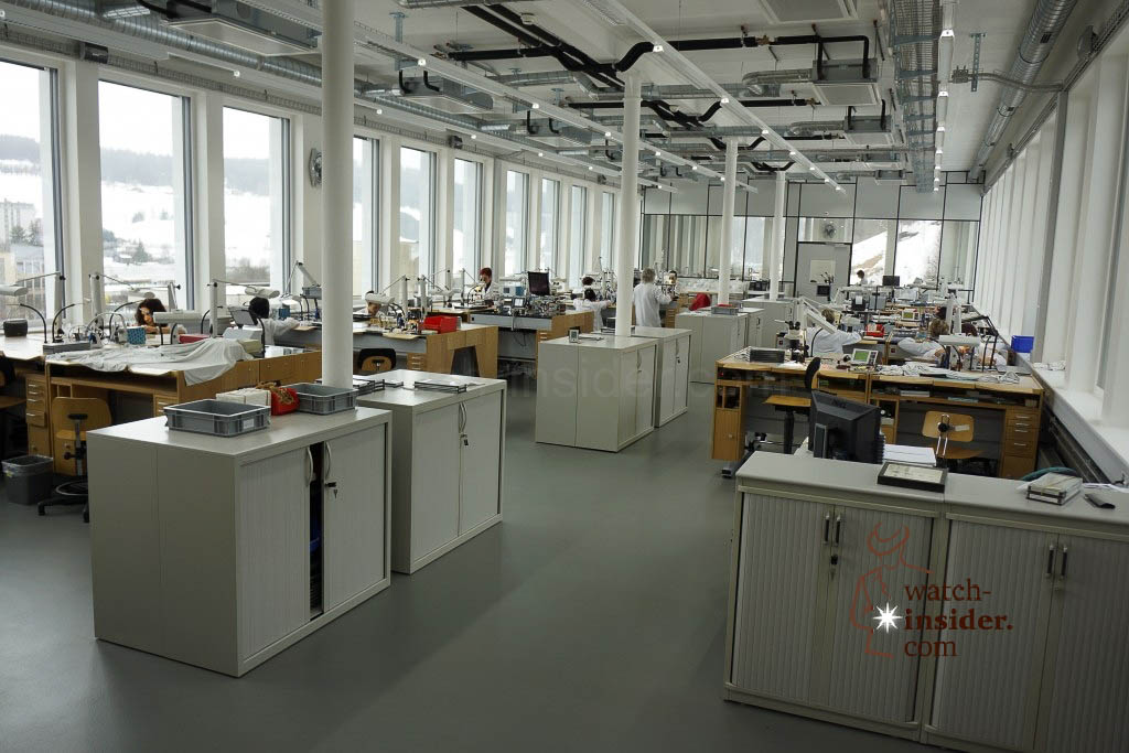 … an overview of this department at zenith in Le Locle…
