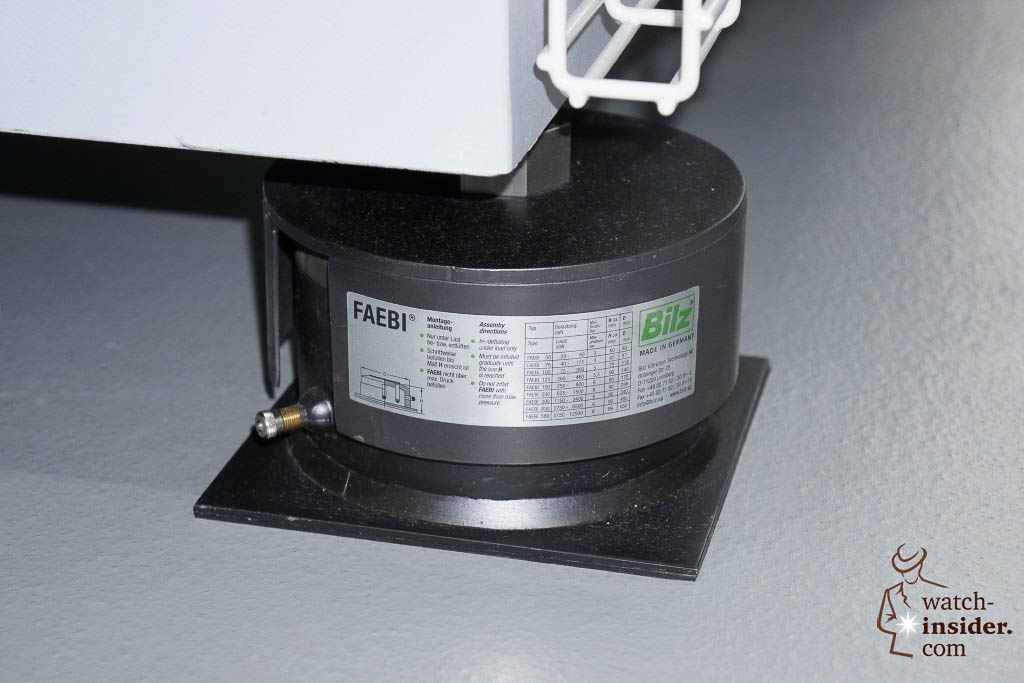 … to reduce the impact of the stamping on other machines four special vibration absorbing devices are used …
