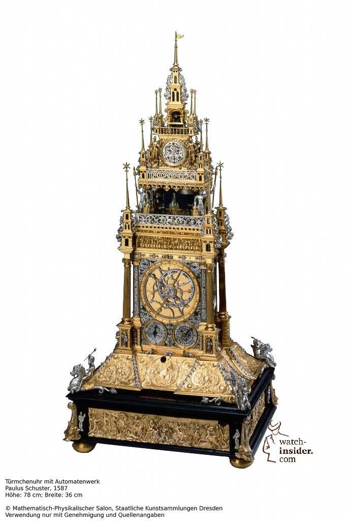 Table clock, Paulus Schuster, 1587