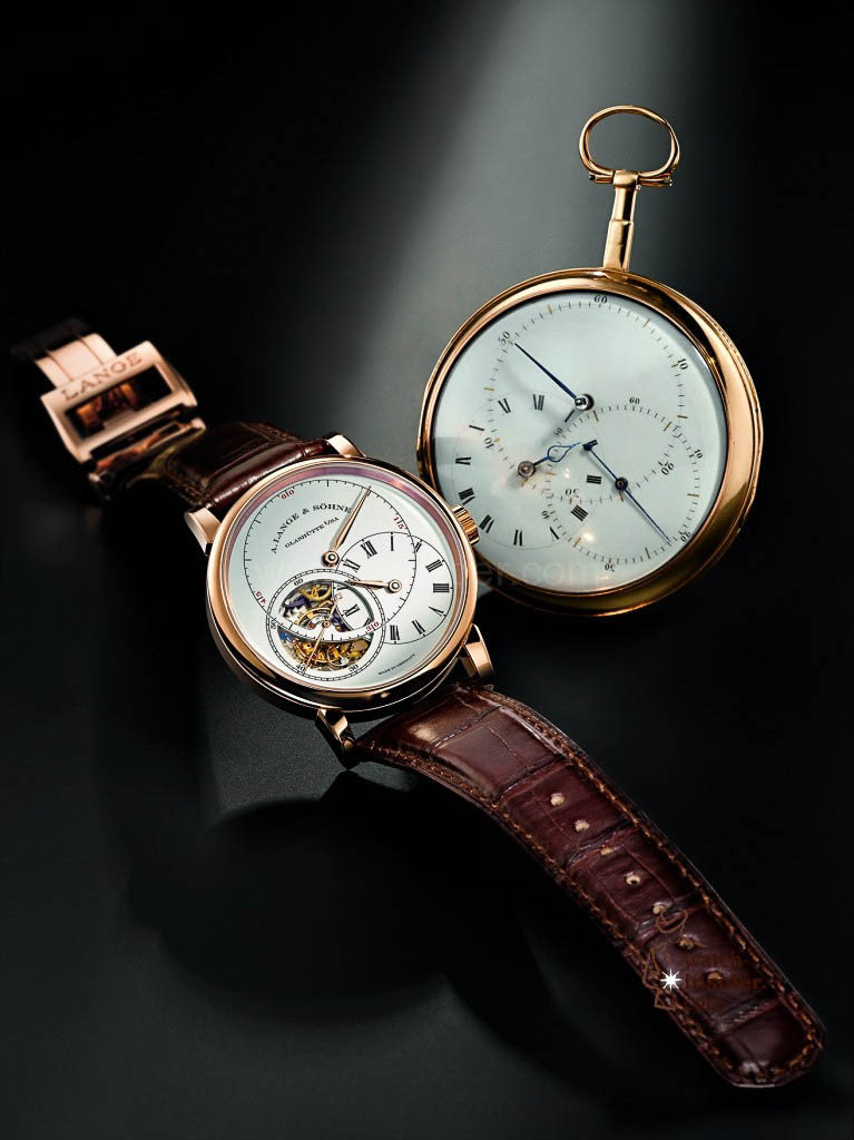 "Johann Heinrich Seyffert's 1807 regulator inspired the design of A. Lange & Söhne: the ""Richard Lange Tourbillon Pour le Mérite"