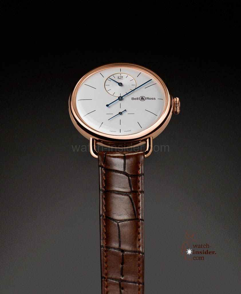 The new Bell & Ross WW1 Régulateur Pink Gold presented at Baselworld 2013
