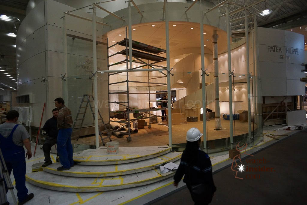 The entrance to the Patek Philippe booth ...