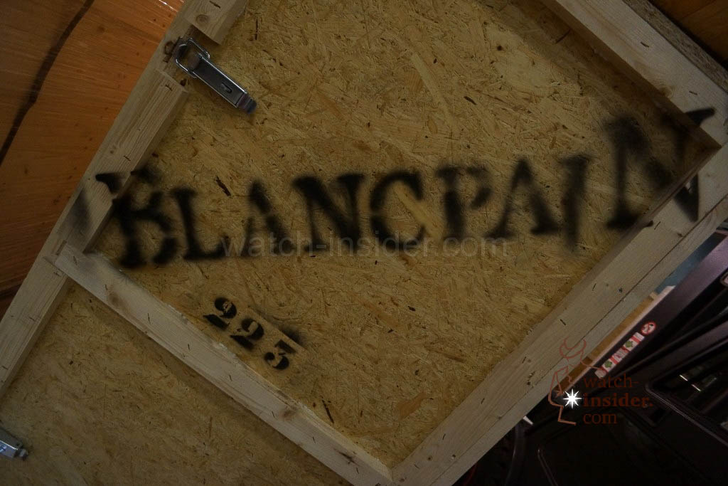 A case belonging to Blancpain