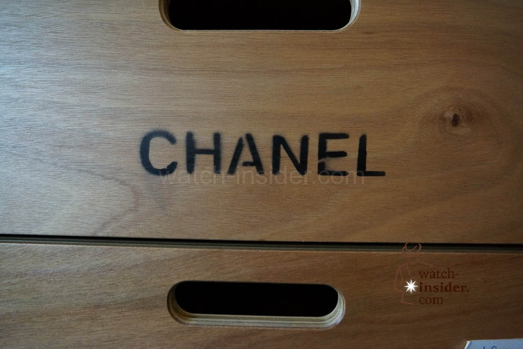 A case belonging to Chanel. Taking pictures of their almost ready booth was forbidden. They almost killed me when I took the picture of on of their cases :-)