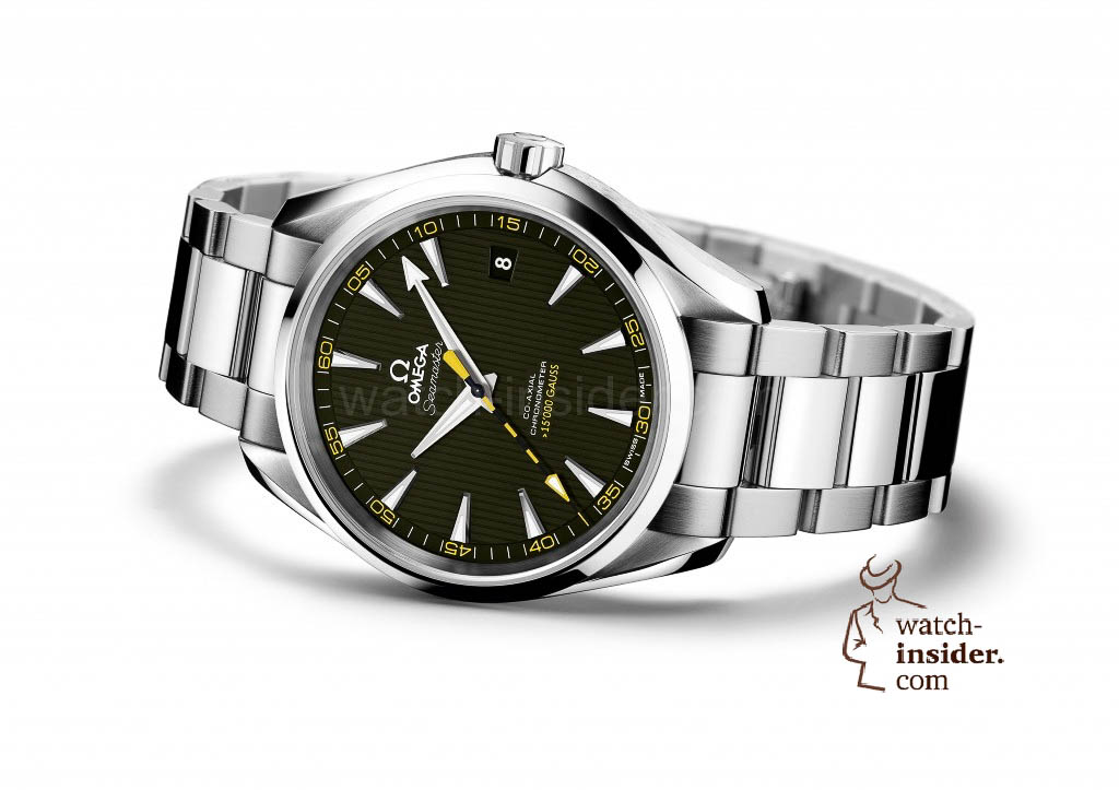"This is what the Omega ""Seamaster Aqua Terra >15.000 Gauss"" will look like. Outwardly, it is scarcely distinguishable from the current Seamaster model. There is just a little yellow incorporated in the seconds hand and the minute circle."