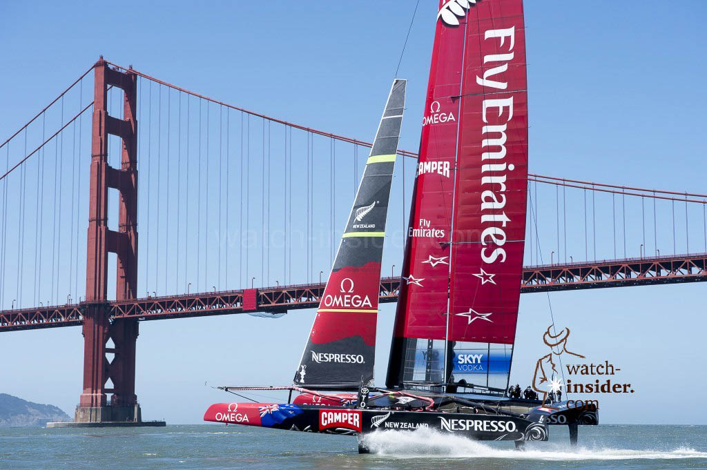 Emirates Team New Zealand AC72, NZL5 on the bay in San Francisco. 23/5/2013 COPYRIGHT Chris Cameron, ETNZ