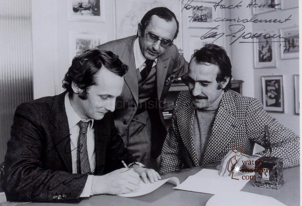 Jack-W. Heuer, Niki Lauda and Clay Regazzoni
