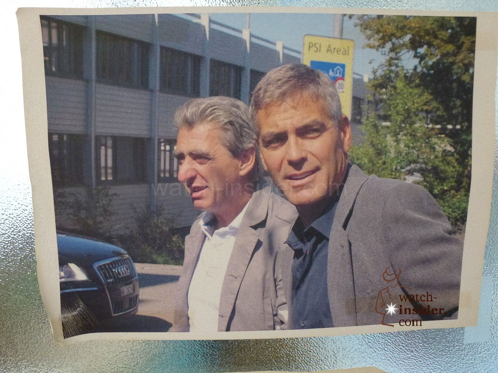 Nick Hayek and George Clooney