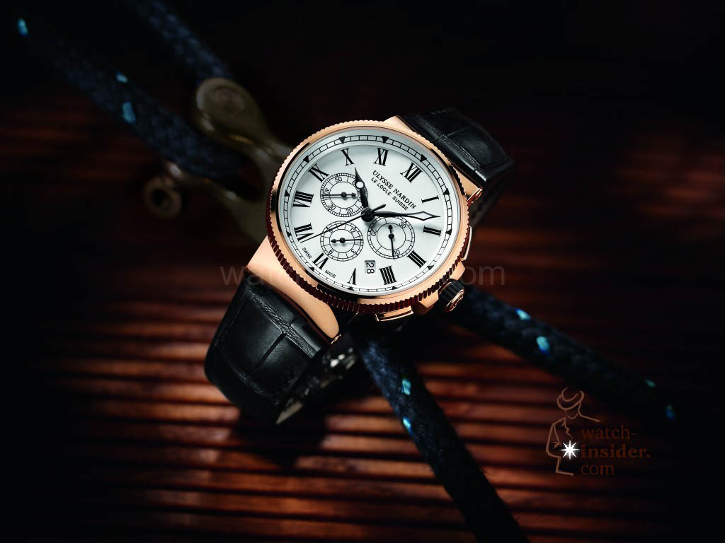 Ulysse Nardin Marine Chronograph Manufacture in rose gold limited edition