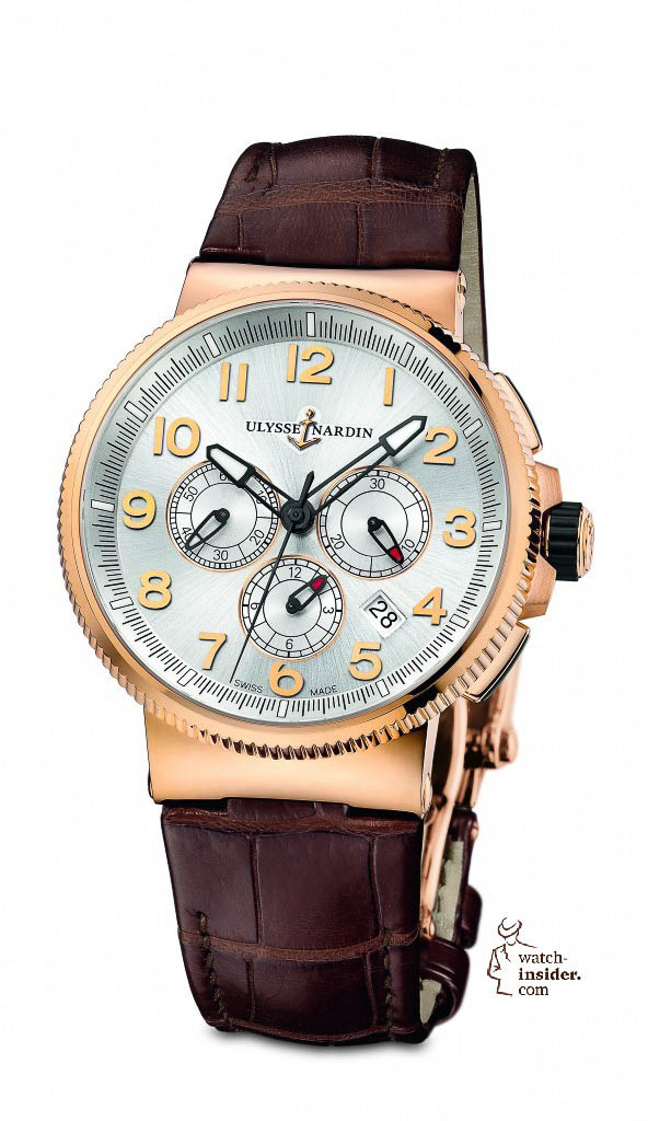 Ulysse Nardin Marine Chronograph Manufacture in rose gold