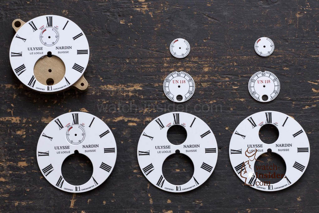 Dials ready for assembly