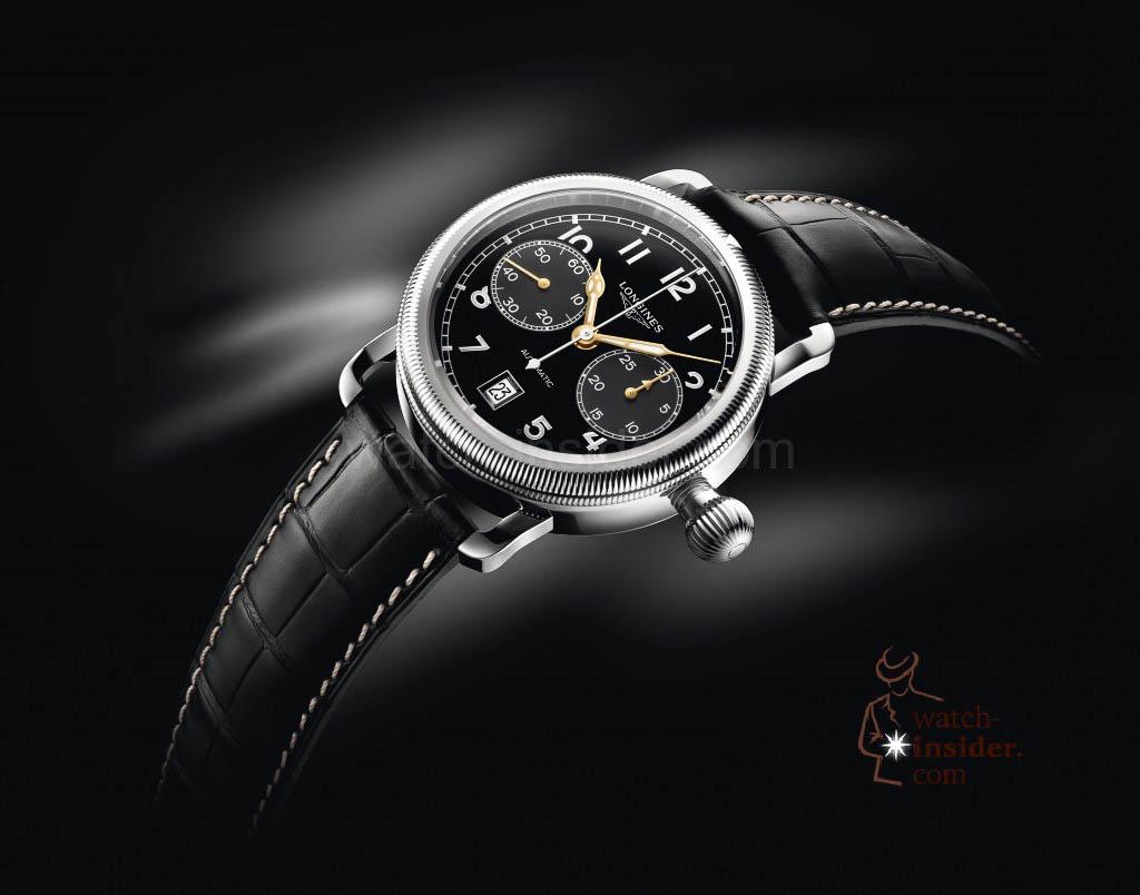 The Longines Avigation Oversize Crown single push-piece chronograph