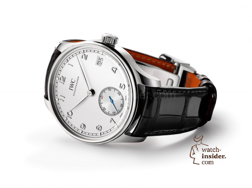 The Portuguese line has one of the longest traditions of all the watch families from IWC Schaffhausen and is the epitome of clarity, purist elegance and innovation combined with precision and state-of-the-art mechanics. The new Portuguese Hand-Wound Eight Days (here in stainless steel, Ref. IW510203) has all the unmistakable design cues of this fine watch line.
