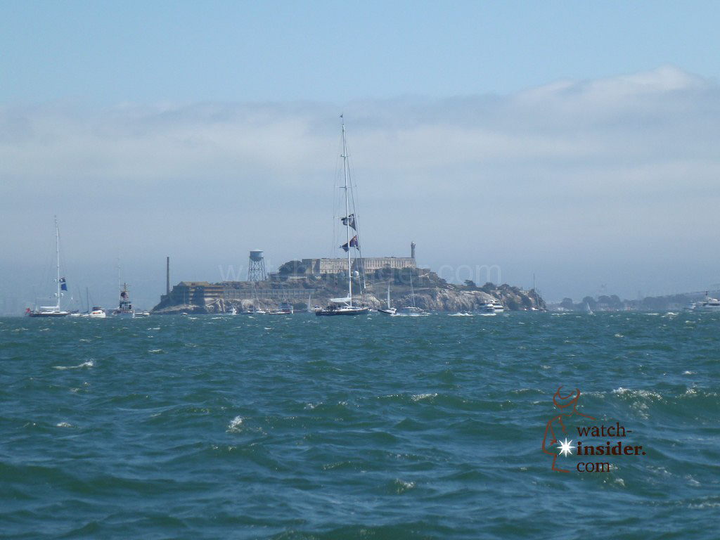 Alcatraz seen from our spectator boat