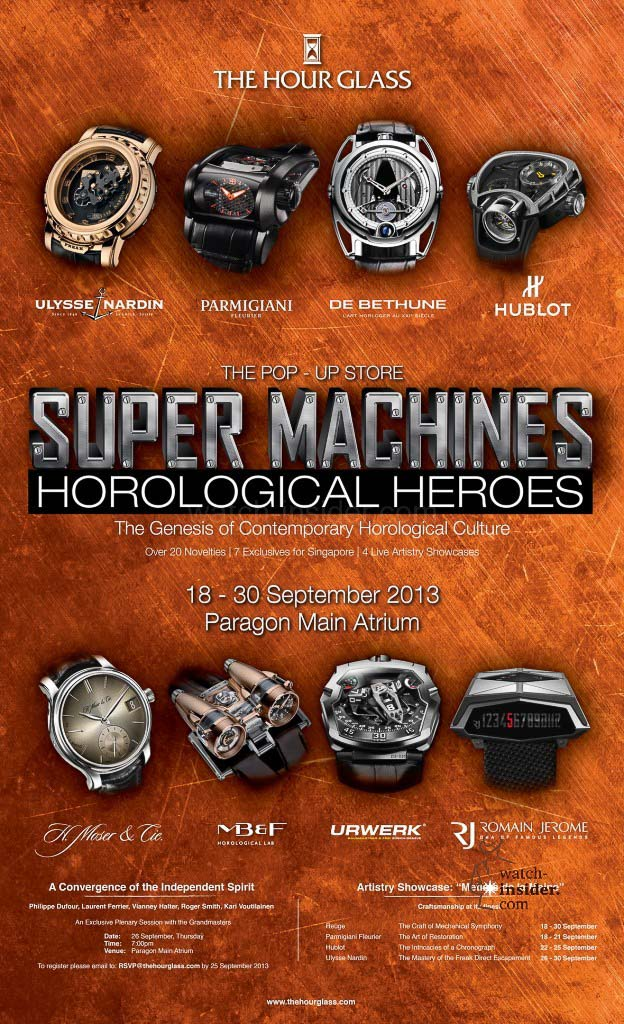 Super Machines & Horological Heroes The genesis of contemporary horological culture