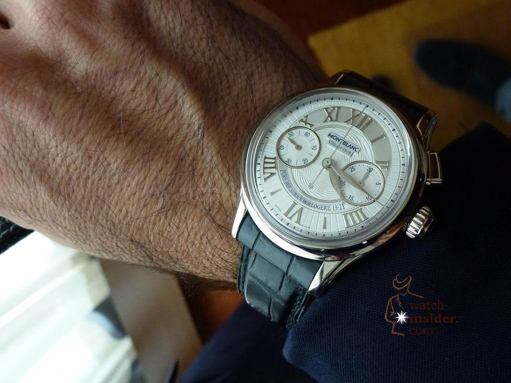Montblanc Villeret Chronograph on the wrist of Montblanc CEO Jerome Lambert