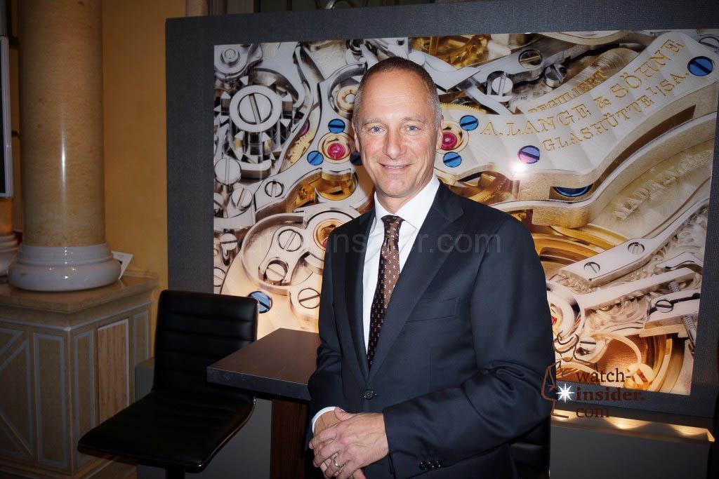 Munichtime 2013: A. Lange & Söhne CEO Wilhelm Schmid.
