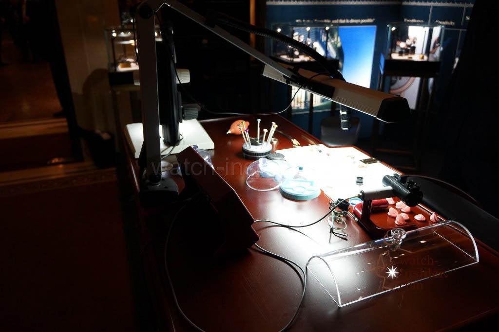 Munichtime 2013: Watchmaker's table at Vacheron Constantin