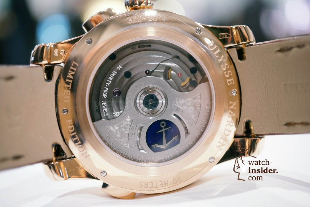 Ulysse Nardin GMT Perpetual, 250 pieces limited edition in red gold