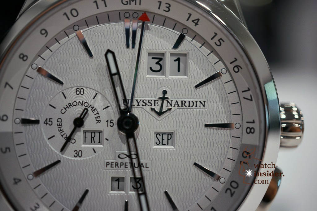 Ulysse Nardin GMT Perpetual, 250 pieces limited edition in Platinum