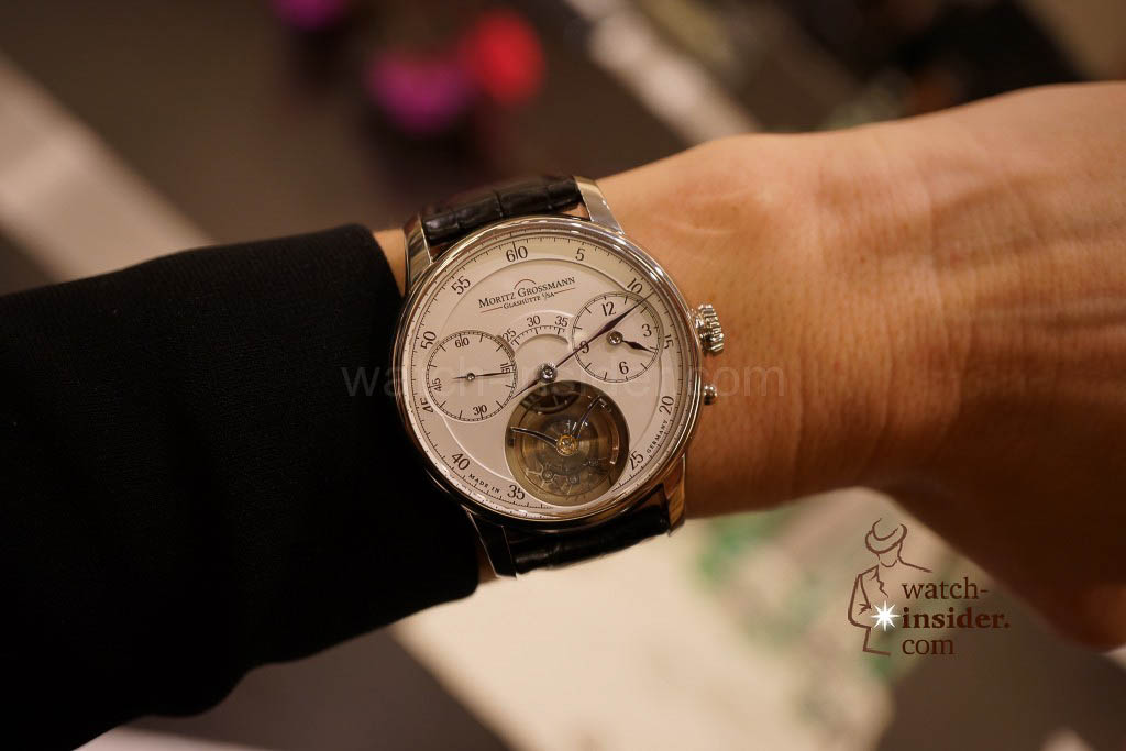 The Moritz Grossmann Benu Tourbillon on the wrist of CEO Christine Hutter