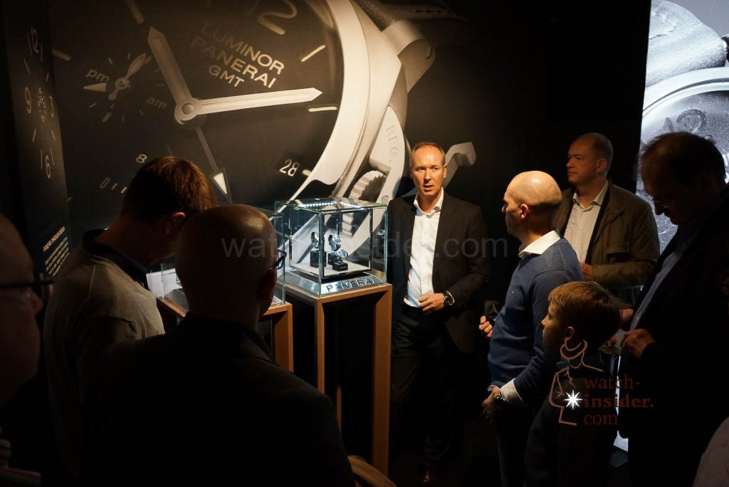 Marcel Roessner guiding us through the exhibition at the the Panerai & watch-insider lunch last Friday during Munichtime