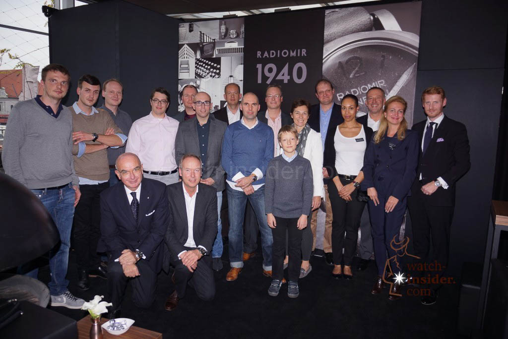 Group picture of the Panerai & watch-insider lunch last Friday during Munichtime