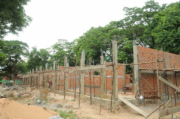 Official School Construction Opening Ceremony in First Stone in Roluos, Siem Reap, Cambodia on Aug 2, 2013.