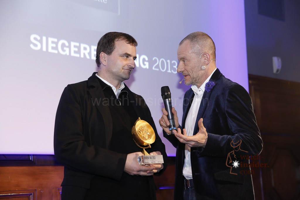 Alexander Linz interviewing Uwe Ahrendt, CEO of Nomos Glashütte