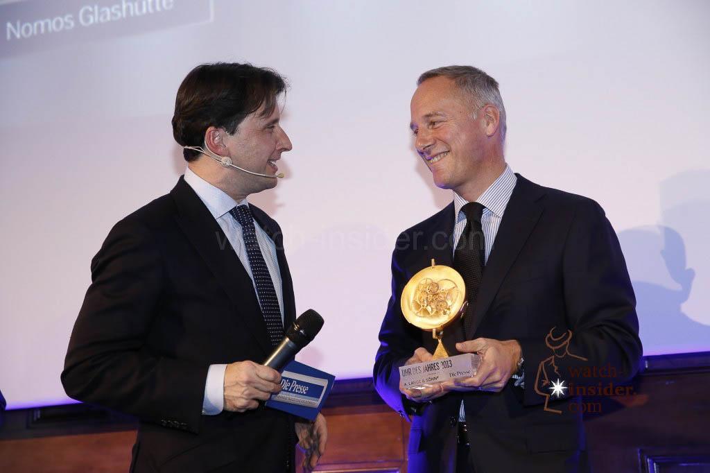 Martin Traxl interviewing A. Lange & Söhne CEO Wilhelm Schmid