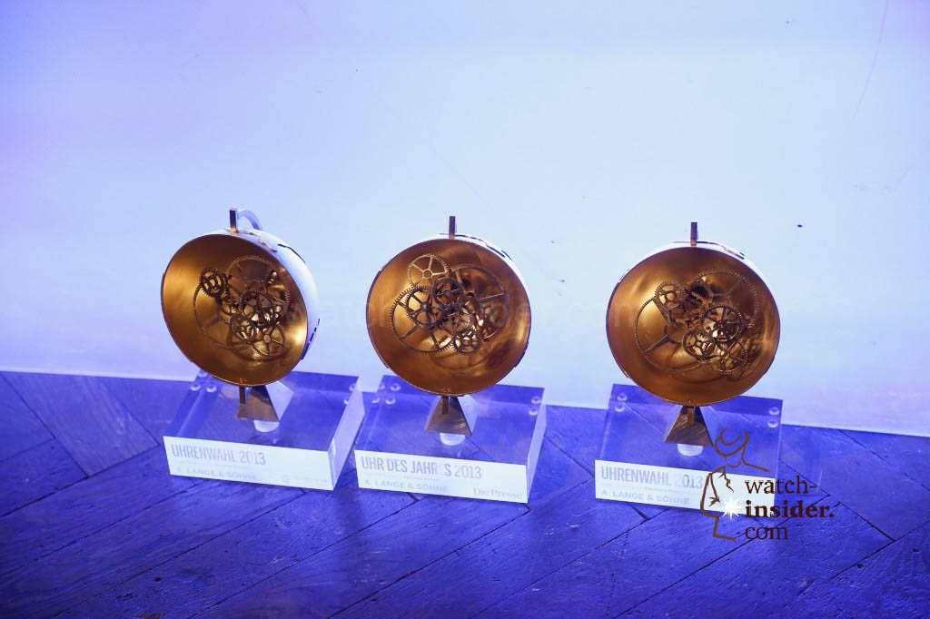 Some of the price cups given to the winners at the price giving ceremony during the inaugural evening of Viennatime.