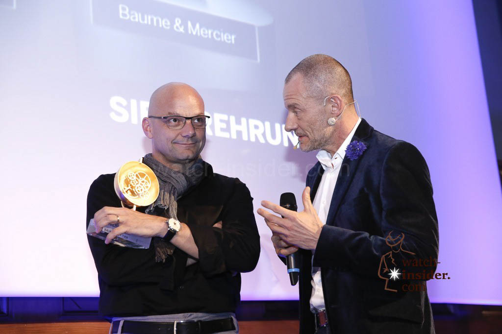 Alexander Linz interviewing Alexandre Peraldi, Design Director of Baume & Mercier