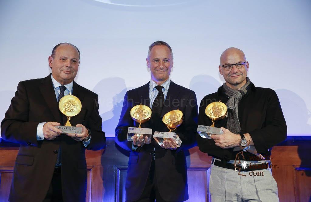 Peter Kellner, CEO of Breitling Austria and CEE, Wilhelm Schmid, CEO A. Lange & Söhne, Alexandre Peraldi, Design Director of Baume & Mercier