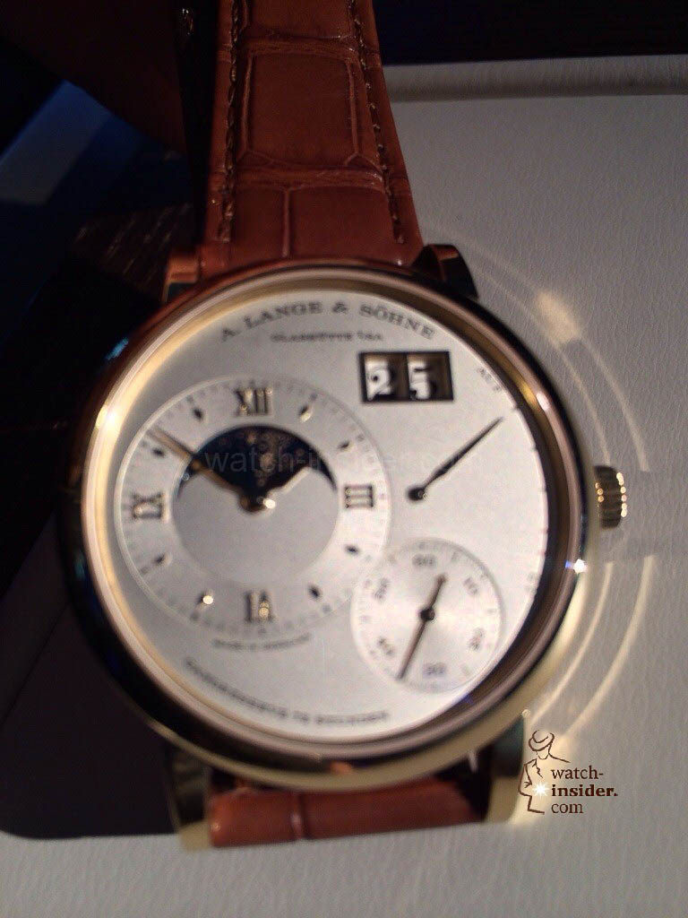 Pre SIHH 2014: Live pictures of the new A. Lange & Söhne Grand Lange 1 Moon Phase