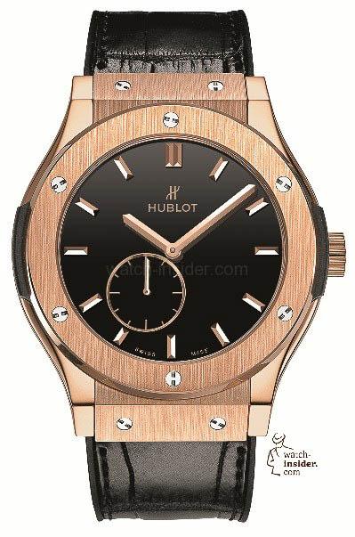Hublot Classic Fusion Classico Ultra-Thin King Gold Black Shiny Dial