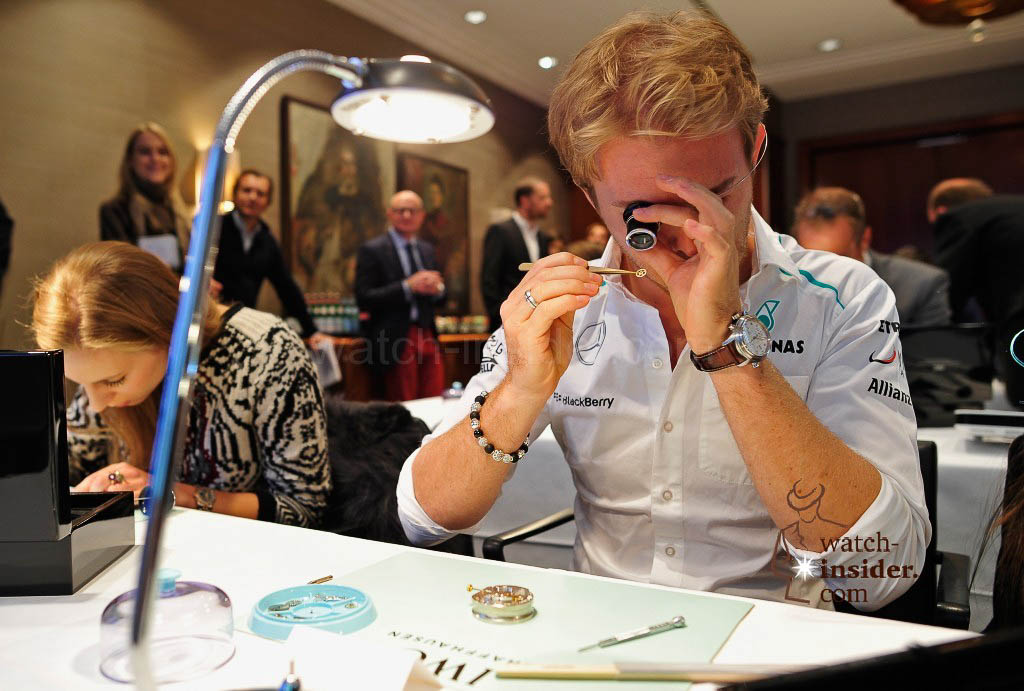 Nico Rosberg attends a watchmaking class by IWC at The Charles Hotel on December 12, 2013 in Munich, Germany.