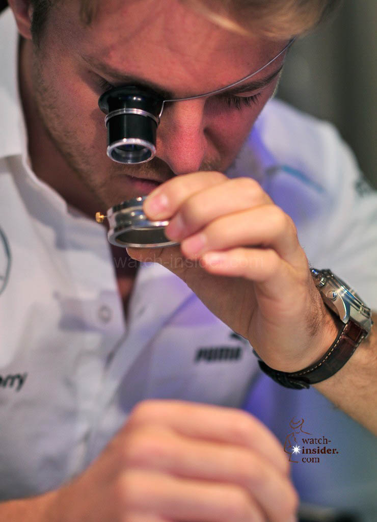 Nico Rosberg attends a watchmaking class by IWC