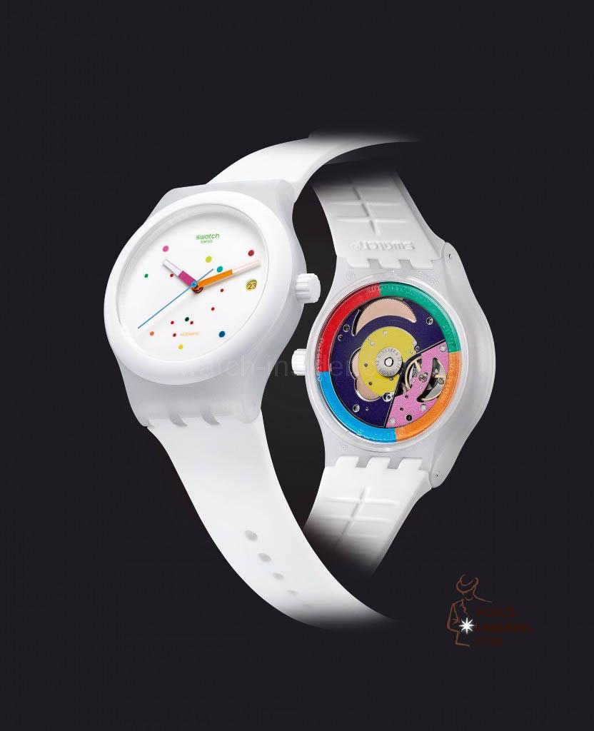 Swatch Sistem51 White SUTW400