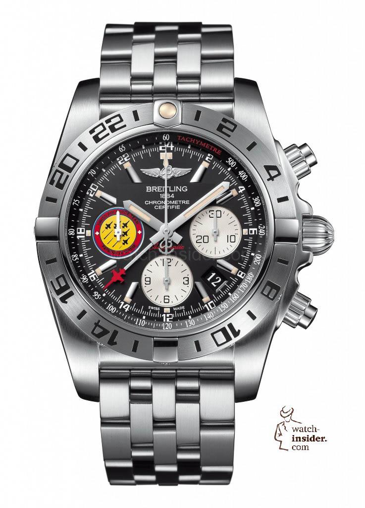 "Breitling Chronomat 44 GMT ""Patrouille Suisse 50th Anniversary"""