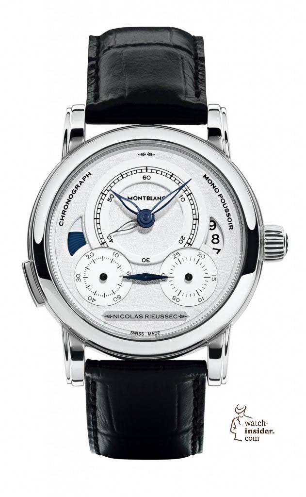 "Montblanc ""Homage to Nicolas Rieussec"",  limited edition of 565 in steel. 8990 Euro."