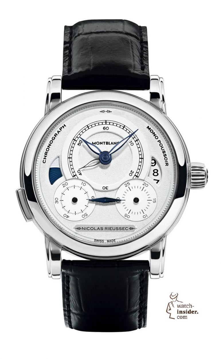 """Montblanc """"Homage to Nicolas Rieussec"""", limited edition of 565 in steel.  8990 Euro. 90a9759a5b8e"""