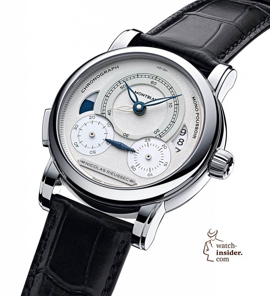 "Montblanc ""Homage to Nicolas Rieussec"", limited edition of 565 in steel. 8990 Euro"