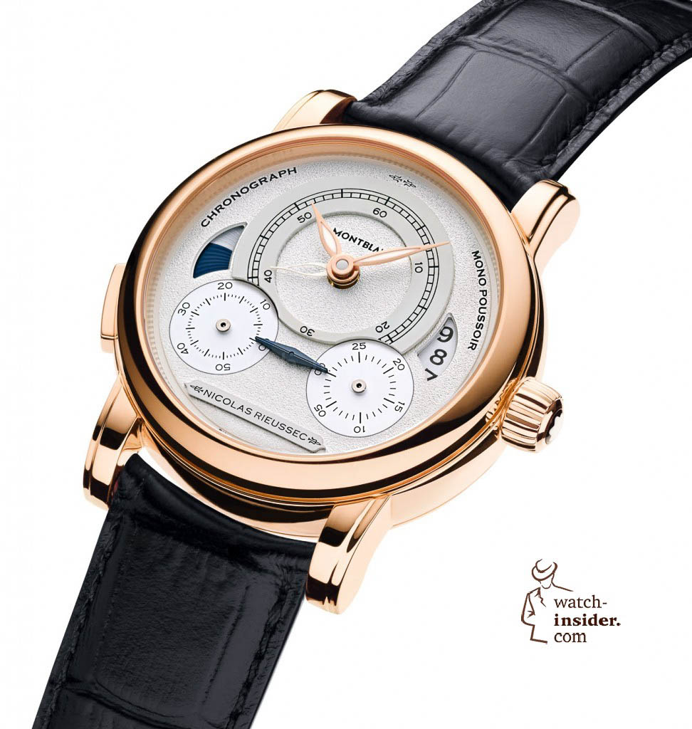 "Montblanc ""Homage to Nicolas Rieussec"", limited edition of 193 rose gold. 26.900 Euro"
