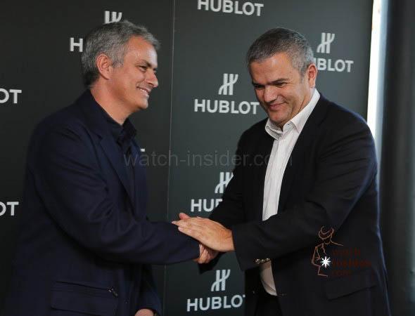 José Mourinho and Hublot CEO Ricardo Guadalupe