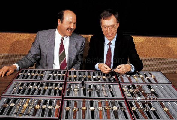 Ulrich W. Herzog (left) and Dr Rolf Portmann, shortly after they staged a management buy-out in 1982. Oris has been an independent company ever since.