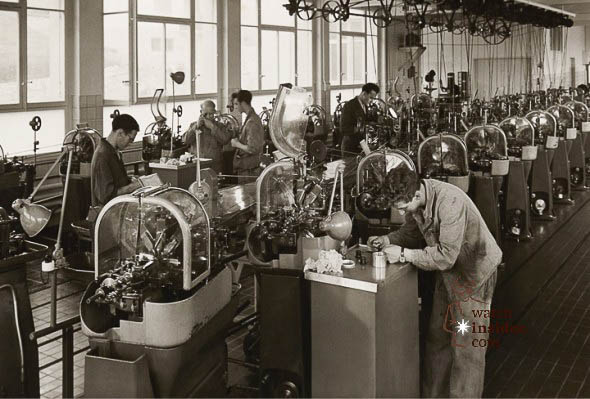 The Malleray factory in 1945. Oris opened a number of facilities in the first half of the century to cater for its rapid growth.