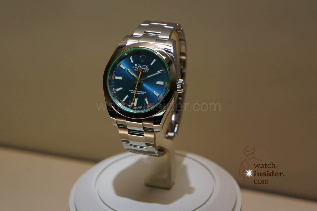 The new Rolex Millegauss with a blue dial